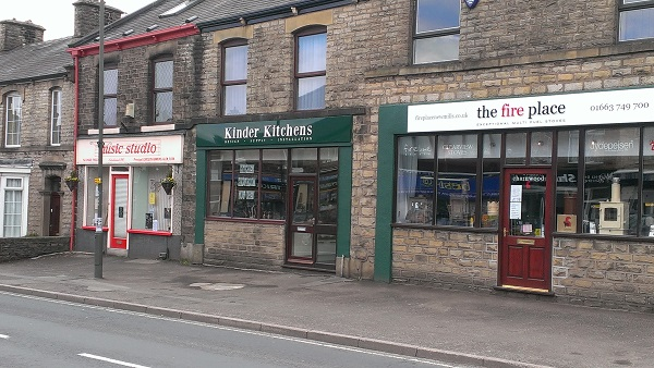Kinder Kitchens Shop On Albion Road In New Mills