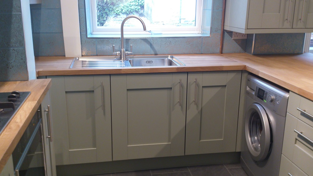 Kitchen With Hand Painted Door In French Grey