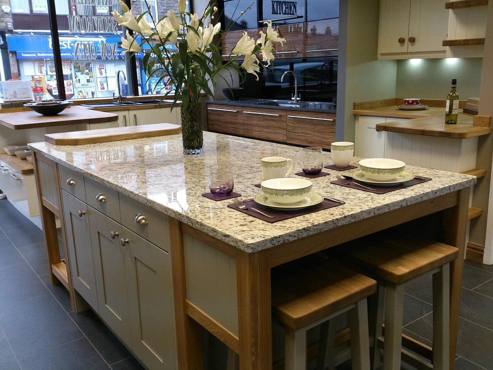 Kitchen Island Display With Granite Worktop