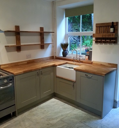 Oak Shelves And Wine Rack
