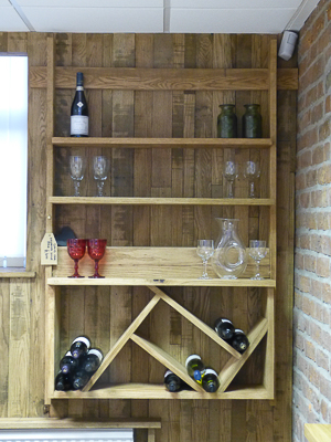 Hanging Wine Rack With Shelves