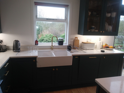New Kitchen With Double Belfast Sink