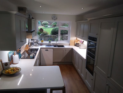 New Kitchen by Kinder Kitchens in Disley, Cheshire.